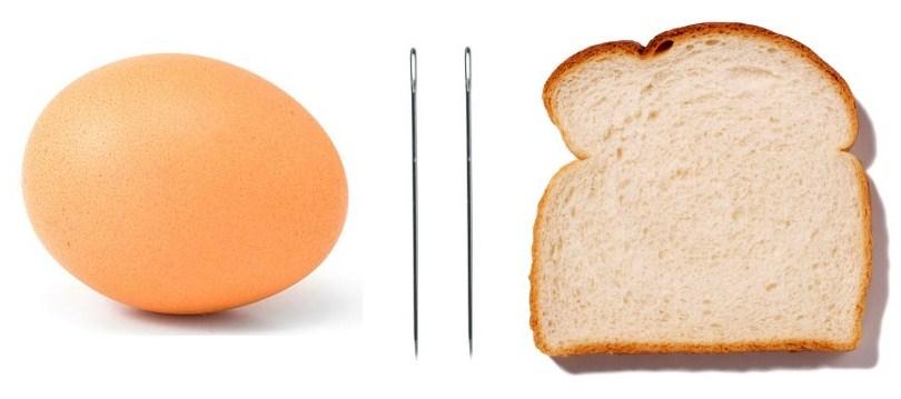 Оберег из машины из яйца иголок хлеба